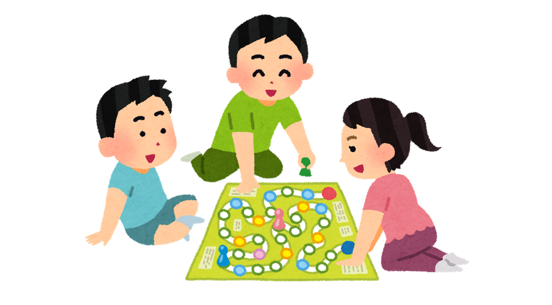 三人でボードゲーム